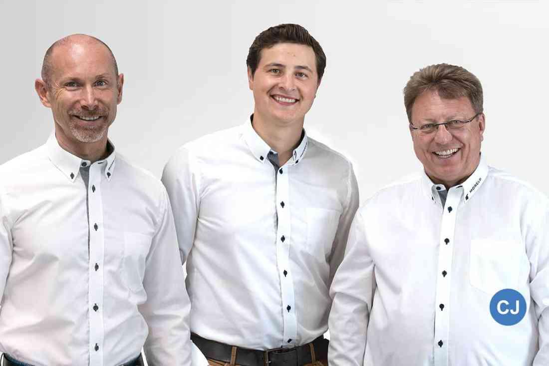 V.l.n.r: Jochen REimann, Robert Crispens, Reinhard Löhner. (Foto: Morelo)